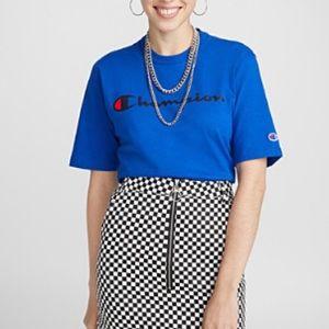 Checkered High Waist Mini Skirt